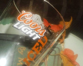 Coors Light Iced T | Iced-tea Beer tumbler | beer glass.  Etched and embossed branding.  Issued in 2012 to launch the brand in Canada.