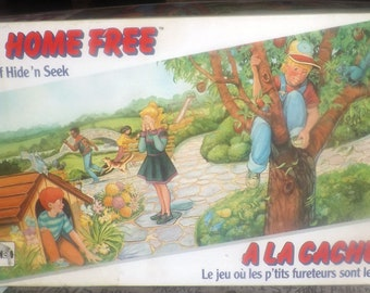 Vintage (1989) 1-2-3 Home Free Hide-and-Seek board game published by Chieftain games. Complete. Excellent condition.
