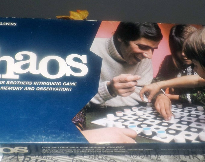 Vintage (1972) Chaos board game published in Canada by Parker Brothers. Complete but no instructions.