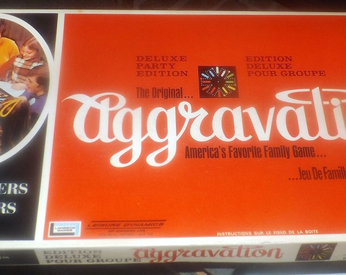Vintage (1972) Aggravation Deluxe Party Edition board game published by Leisure Dynamics. Complete.