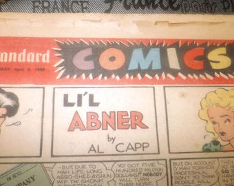 Mid-century (April 8, 1950) full Comics section of the Montreal Standard newspaper. English. Complete.