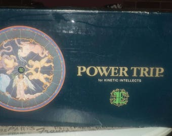 "Vintage (1984) Power Trip ""The Game for Kinetic Intellects"" board game published by boutique game house Earth Educators. Complete. Mint."