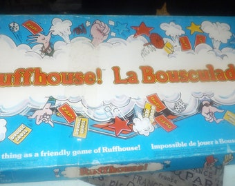 Vintage (1979) Ruffhouse board game published by Parker Brothers as game A397. Bilingual (English | French Canadian edition). Complete.