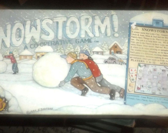 Vintage (1994) Snowstorm board game published by Family Pastimes. Complete.