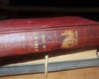 Antique (1913) hardcover book Stalky & Co by Rudyard Kipling.  Printed London UK by MacMillan Co. Complete.