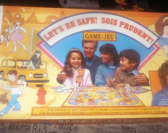 Vintage (1986) Let's Be Safe board game published by Milton Bradley | Hasbro in Canada as game C4622. Sponsored by Joan Lunden. Complete.