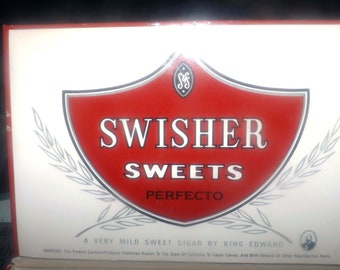 Vintage (mid 1970s) cigar box for King Edward Perfecto Swisher Sweets.  Great home or home bar decor piece.