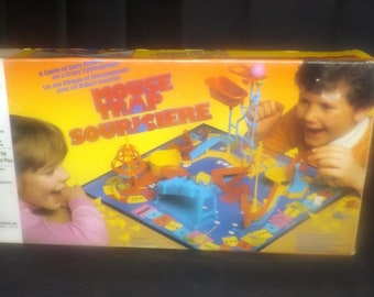 Vintage (1986) Mouse Trap board game. Milton Bradley game C4657. Complete with instructions. Made in Canada.
