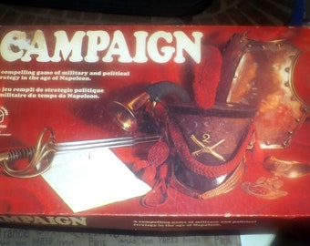 Vintage (1971) Campaign board game by quality game publisher Waddingtons. Complete.