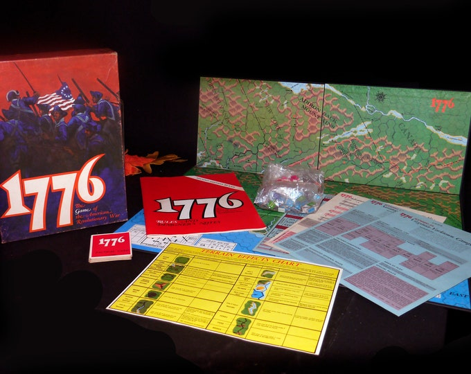 Vintage (1974) 1776 The Game of the American Revolutionary War. Avalon Hill. Complete. Made in USA. First edition.