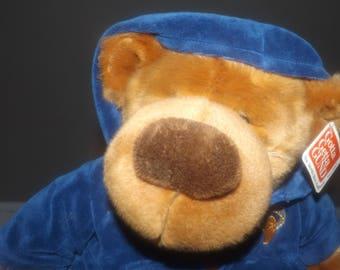Vintage (1992) Gund All-Stars Basketball bear with original tags. Blue velour zippered basketball hoodie. Too cute.