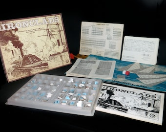 Vintage (1979) The Ironclads American Civil War Naval Combat first-edition board game made in the USA published by Yaquinto. Complete.