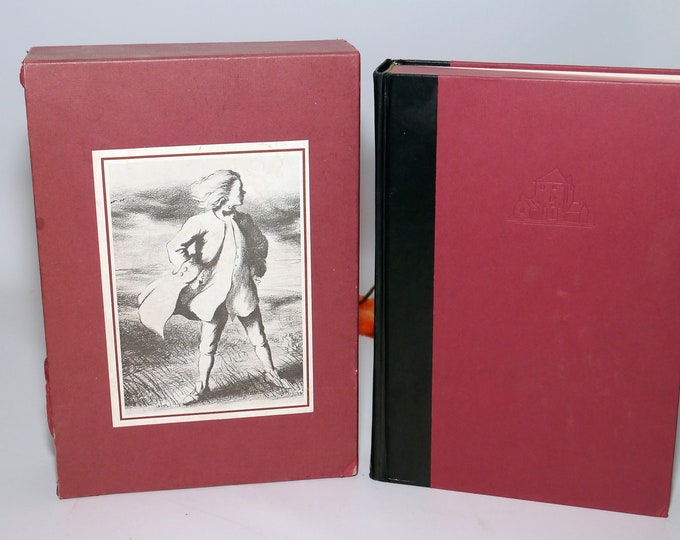 Vintage (1964) book The History of Tom Jones: A Foundling by Henry Fielding. Illustrated Lawrence Beall Smith. Random House with slip case.