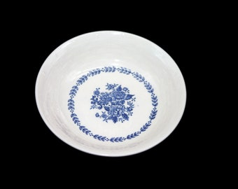 Vintage Mayfair Royal Florence blue-and-white fruit nappie, dessert, sauce, berry bowl made in Japan. Sold individually.