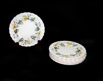 Vintage (1960s) Myott Staffordshire Westmoreland bread, dessert, side plate. Old Chelsea ironstone made in England. Sold individually.