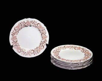 Mid century Grosvenor Bone China Rhapsody salad or side plate made in England. Sold individually.