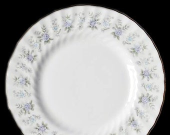 Vintage (1970s) Minton Alpine Spring salad or side plate made in England. Sold individually.