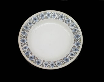 Retro vintage (1970s) Wedgwood Mosaic bread, dessert, side plate made in England.