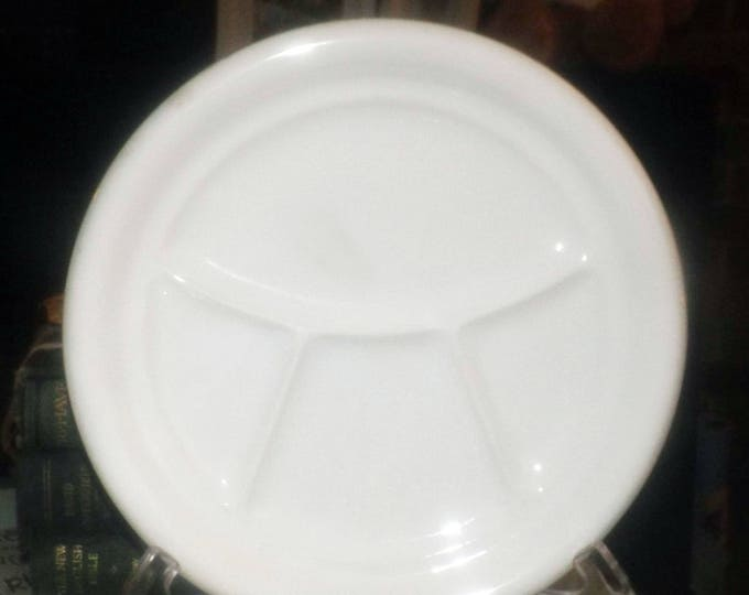 Vintage (1960s) Pagnossin Treviso all-white divided luncheon plate made in Italy.