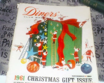 Vintage (November 1961) Diner's Club Magazine Christmas Gift Issue Vol 12, issue 8. Great vintage advertisements. Complete.