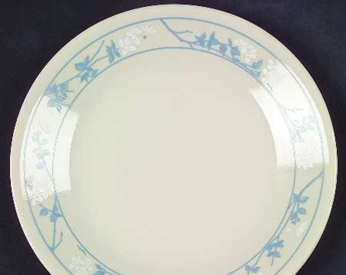 Vintage (1980s) Corelle | Corning USA | Corning Ware First of Spring bread-and-butter, dessert, or side plate. Embossed blue florals