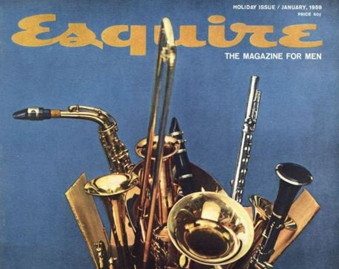 Featured listing image: Mid-century (January, 1959) and hard to find Esquire Golden Age of Jazz magazine. Complete.