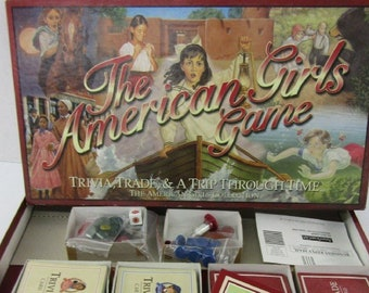 Vintage (1999) The American Girls Game; Trivia, Trade and a Trip Through Time published by Pleasant Co. Complete.
