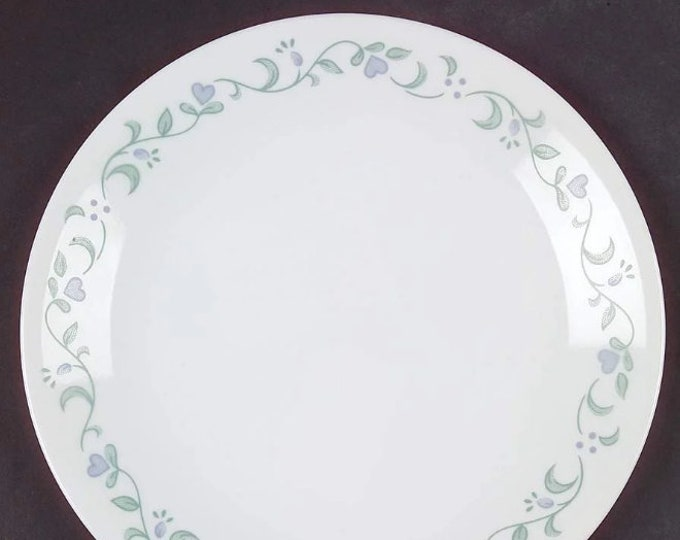 Corelle Country Cottage luncheon or large salad plate. Vintage Corningware made in USA.
