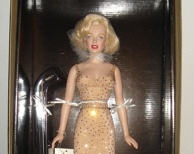 Vintage (1999) Franklin Mint Marilyn Monroe doll. NIB with COA Happy Birthday Mr. President. Unopened, limited-edition release.