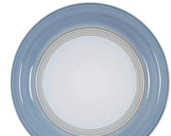 Vintage (1980s) Denby Castile large dinner plate. Vintage stoneware made in England.