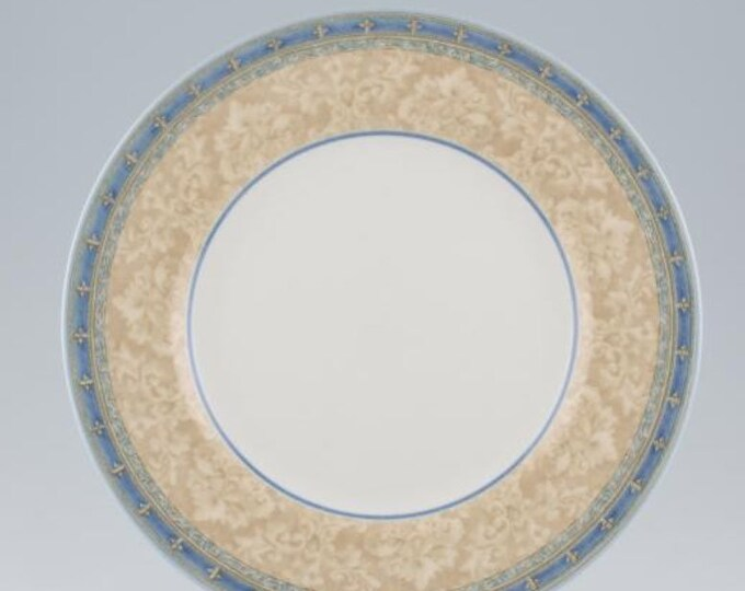 Vintage (1999) Churchill China Prague pattern dinner plate   charger. Jeff Banks Ports of Call series.  Made in England.