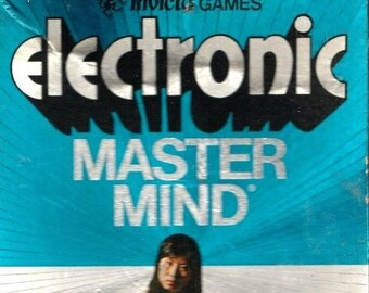 Vintage (1977) Electronic Mastermind hand-held code-breaking game. Complete.
