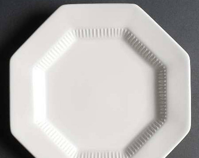 Vintage (1980s) Nikko Classic White all-white stoneware salad or side plate made in Japan. Sold individually.