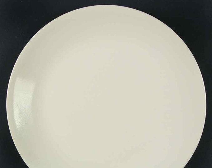 Corelle | Corning USA | Corningware Sandstone pattern all-beige dinner plate. Discontinued 2010.