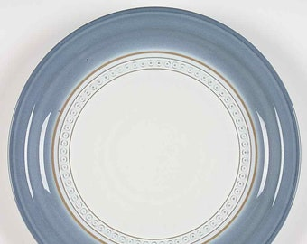 Vintage (1980s) Denby Castile stoneware salad   side plate. Vintage stoneware made in England. Sold individually.