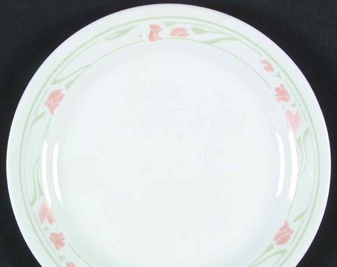 Vintage (1980s) Corelle Peach Garland bread-and-butter, dessert, side plate. Made in USA.