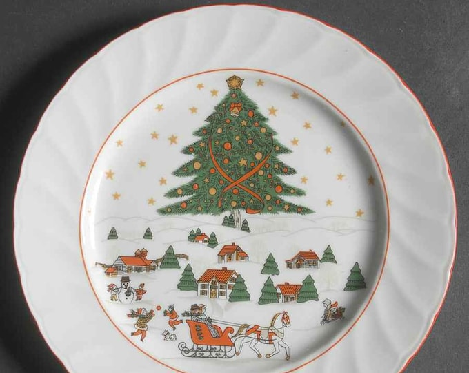 Vintage (1980s) Christmas Pleasure salad or side plate made by Kopin.