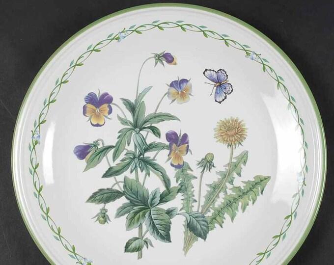 Set of four vintage Studio Nova Garden Bloom Y2372 large dinner plates made in Thailand.