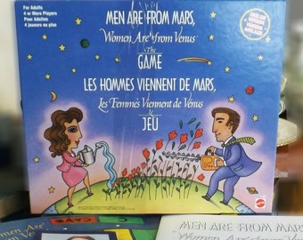 Vintage (1995) Men Are From Mars, Women Are From Venus board game from Mattel based on book by John Gray. Complete