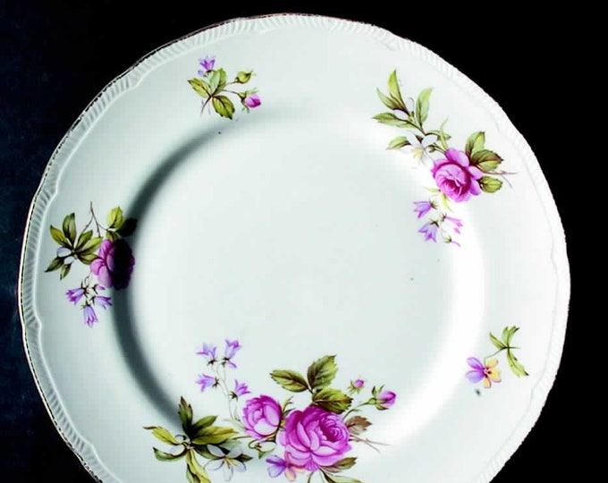 Early mid-century (1940s) Ridgway Summer Glory bread-and-butter, dessert, or side plate.