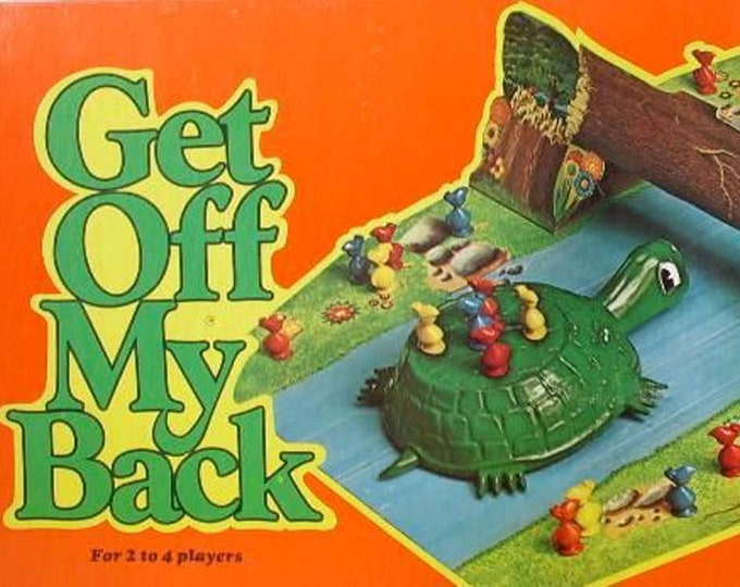 Vintage (1975) Get Off My Back game board only | parts. Published by Schaper.