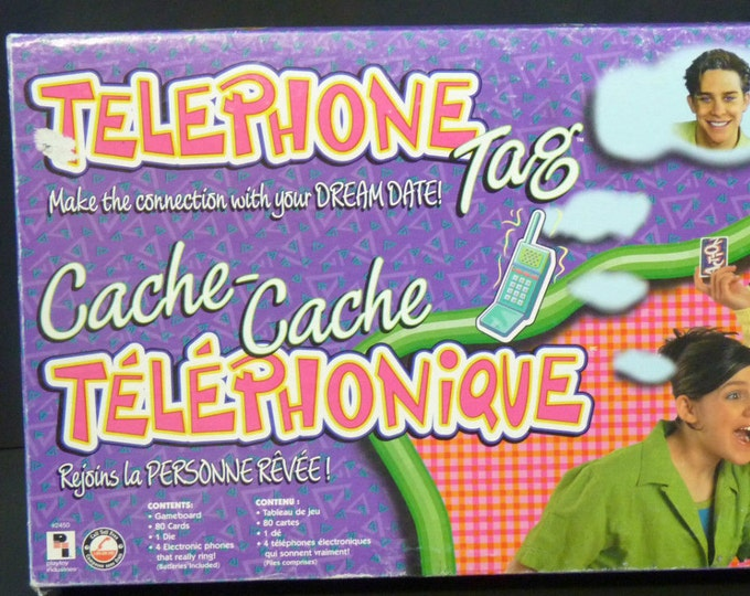 Vintage (1995) Telephone Tag Dream Date board game published by Playtoy Industries.  Complete.