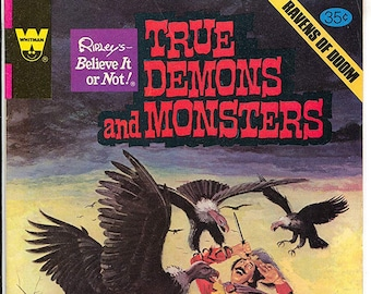 Vintage (1978) Whitman Comics Ripley's Believe it or Not True Demons and Monsters Ravens of Doom comic book c. Dec 1978. Published in USA.