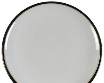 Denby Black Pepper large stoneware dinner plate made in England. Sold individually.
