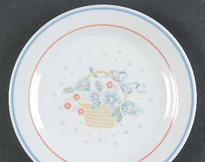 Set of vintage (1980s) Corelle | Corning USA | Corningware Country Cornflower salad or side plates.