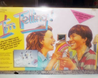 Vintage (1987) rare I'm Telling board game published by Pressman | Saban. Complete, unused in factory-sealed packaging. Made in USA.