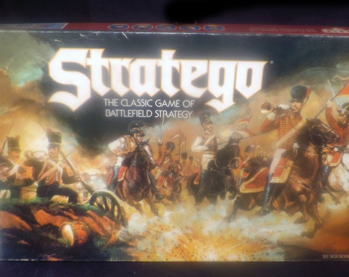 Vintage (1986) Stratego board game published by Milton Bradley as game no 4916. Complete.