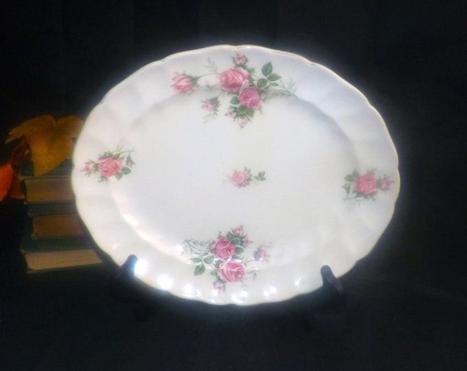 Mid-century (1950s) Johnson Brothers JB451 oval vegetable platter.  Made in England.