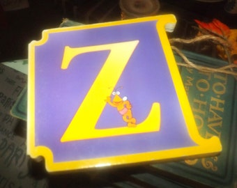Vintage (1997) CTW Sesame Street Letter Z: Zoe's Z Book ABCs Muppets Reader's Digest Young Families. Italy import.
