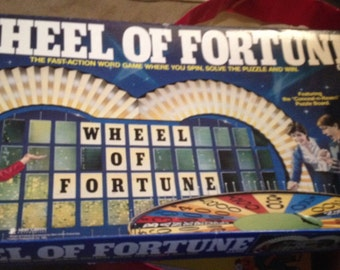 Vintage (1985) Pressman Toy Corp. TV Game Show Wheel Of Fortune 2nd Edition Board Game.  Great condition. Complete.